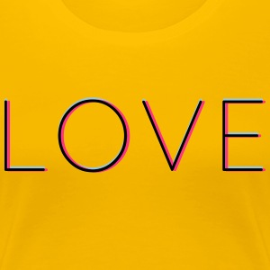 LOVE - love in 3d with Neon Vintage Hipsterfeeling - Women's Premium T-Shirt
