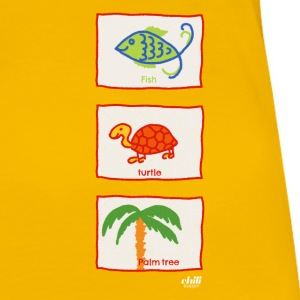 Fisk, sköldpadda, palm: Holiday Beach fritid - Premium-T-shirt dam