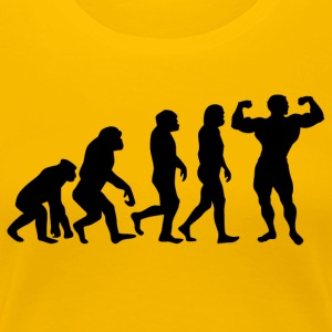++ ++ BODYBUILDING EVOLUTION - Vrouwen Premium T-shirt