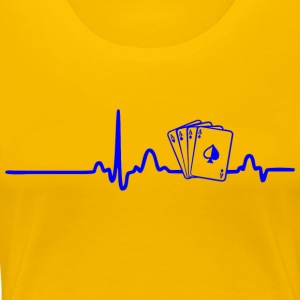 ECG HEART LINE POKER PLAYER blue - Women's Premium T-Shirt