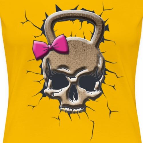 Kettlebel Crâne feminin - T-shirt Premium Femme