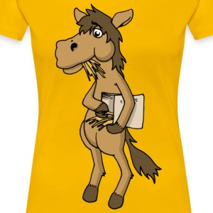 Cool horse horse Horse feed hay animal stable - Women's Premium T-Shirt