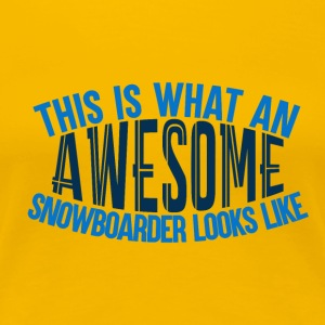 Awesome Boarder - Boarder Macht - Vrouwen Premium T-shirt