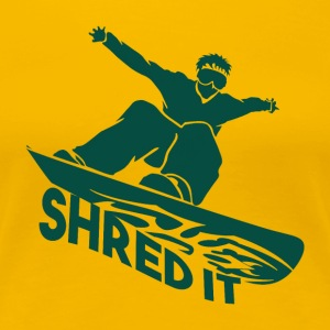 SHRED IT - Boarder Macht - Vrouwen Premium T-shirt