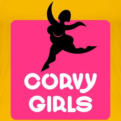 curvy girls signet - Frauen Premium T-Shirt