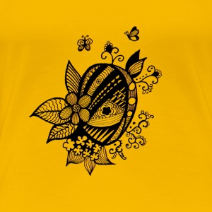 Oeuf floral - T-shirt Premium Femme