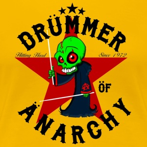 Insane Drummer - Drummer of Anarchy - sort - Dame premium T-shirt