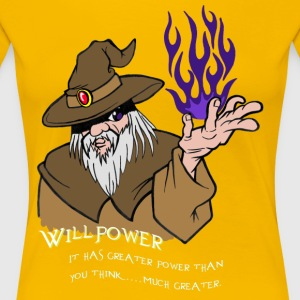 Willpower Wizard Brown / Dark Purple Flame - Women's Premium T-Shirt