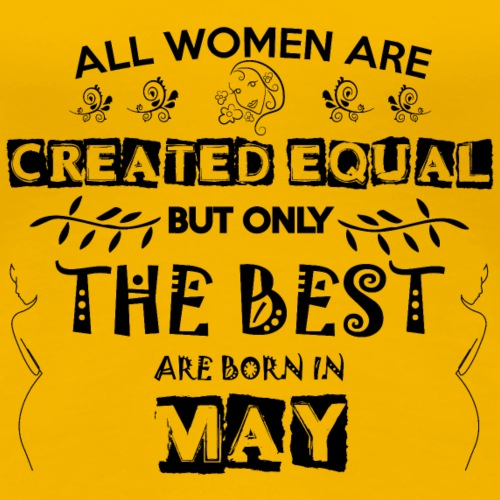 Woman Birthday May - Women's Premium T-Shirt