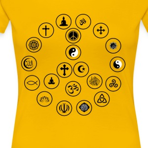 Peace and Religion - Women's Premium T-Shirt