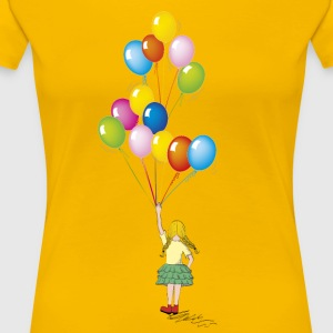 Little girl balloons - Women's Premium T-Shirt