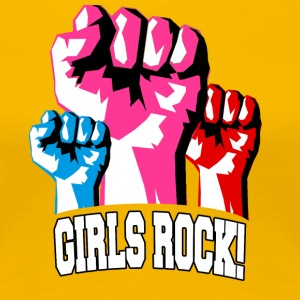 Girls Rock! For sterke kvinner - Premium T-skjorte for kvinner