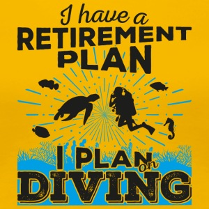 Retirement plan diving (dark) - Frauen Premium T-Shirt