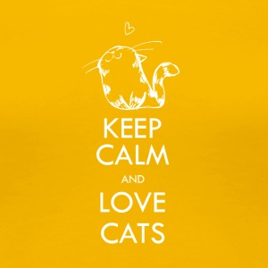 KEEP CALM and love cats - Frauen Premium T-Shirt