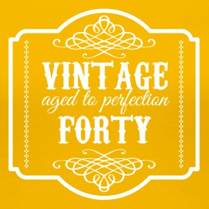 40-årsdag: Vintage Aged To Perfection Forty - Premium-T-shirt dam