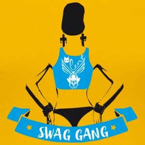 swag gang rap sexy woman back tatoo gangster grafi - Frauen Premium T-Shirt