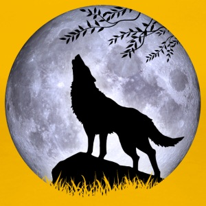 Wolf Vollmond Halloween Nacht Albtraum nightmare - Frauen Premium T-Shirt