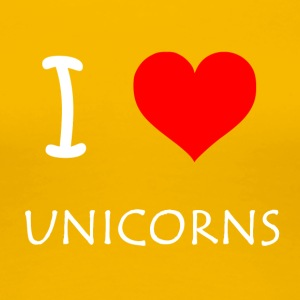 I Love Unicorns - Dame premium T-shirt