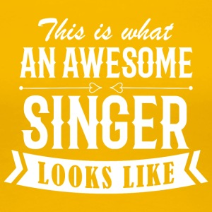 Awesome Singer - Women's Premium T-Shirt