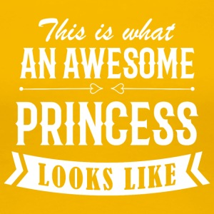 Awesome Princess - Premium T-skjorte for kvinner