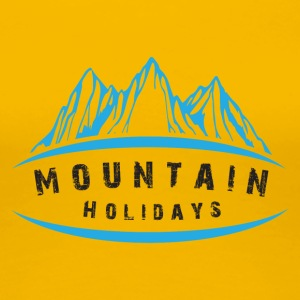 Mountain Holidays - Vrouwen Premium T-shirt
