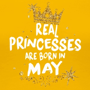 Real princesses are born in May! - Women's Premium T-Shirt