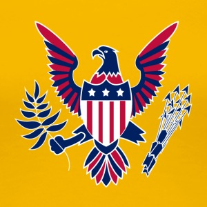 American Eagle USA 4 juli Independence Day - Dame premium T-shirt