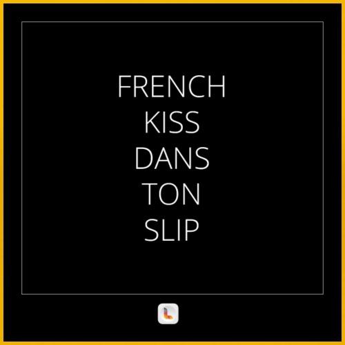 French Kiss - T-shirt Premium Femme