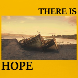 There_is_hope_picture_black_letters - Premium-T-shirt dam