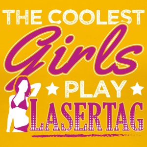 COOLEST GIRLS PLAY LASERTAG - Frauen Premium T-Shirt