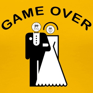 Game Over Just Married - Premium T-skjorte for kvinner