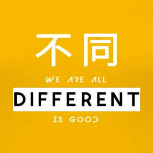 Different is good white - Women's Premium T-Shirt