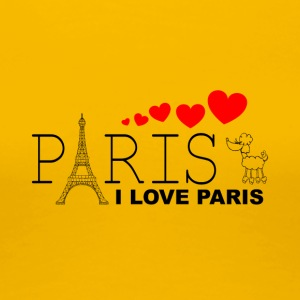 I LOVE PARIS - Dame premium T-shirt