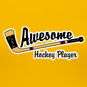 Awesome Hockey Player - Dame premium T-shirt
