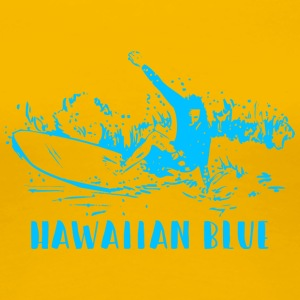 Hawaiian Blue Surfer - Frauen Premium T-Shirt