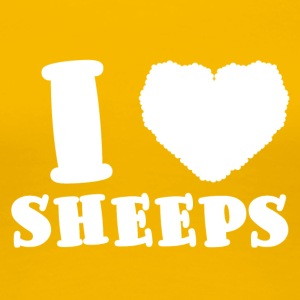 Sheep / Farm: I Love Sheeps - Women's Premium T-Shirt