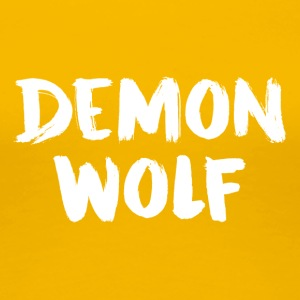 DemonWolf Text-Logo - Frauen Premium T-Shirt