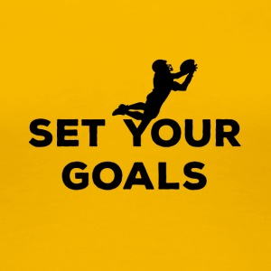 Voetbal: Set Your Goals - Vrouwen Premium T-shirt