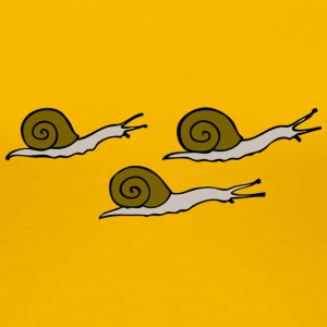 Three snails - Frauen Premium T-Shirt