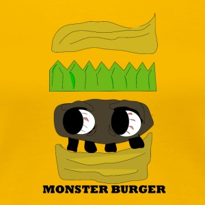 MONSTER BURGER - Premium T-skjorte for kvinner