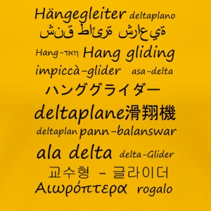 Hang gliding in several languages - Women's Premium T-Shirt