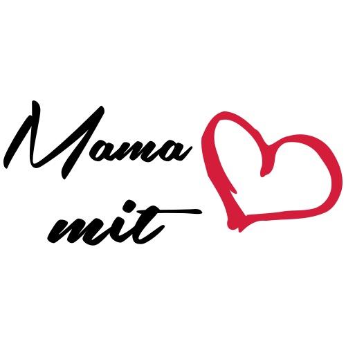 Mama mit Herz - Frauen Premium T-Shirt