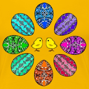 Happy Easter colorful easter eggs Chick beautiful merry - Women's Premium T-Shirt