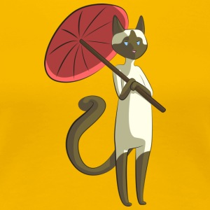 Beautiful cat with umbrella - Women's Premium T-Shirt
