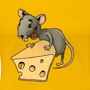 Fiese mouse rodent mouse vermin rodent cheese - Women's Premium T-Shirt