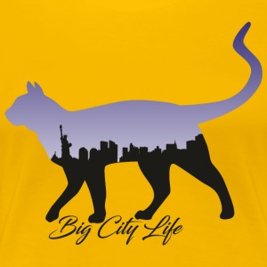Chat dans le design de New York - T-shirt Premium Femme