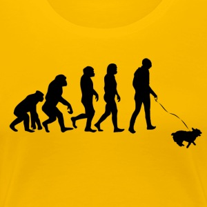 ++ ++ Hundeeiere Evolution - Premium T-skjorte for kvinner