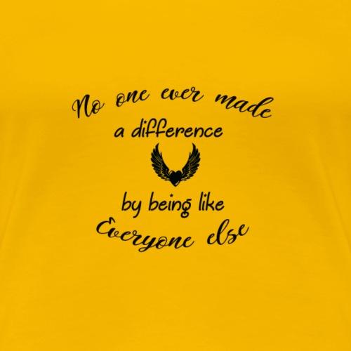 nO ONE coeur - T-shirt Premium Femme