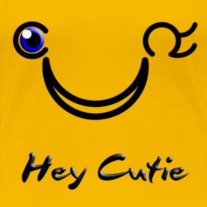 Hey Cutie Blue Eye Wink - Premium-T-shirt dam