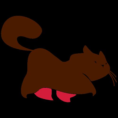 Dicke gemütliche Katze - Frauen Premium T-Shirt